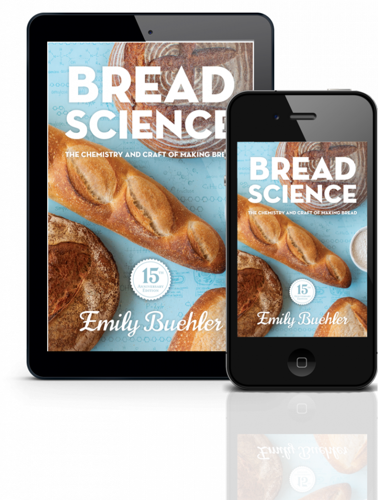 cover of Bread Science showing loaves of bread, on a tablet and a smart phone